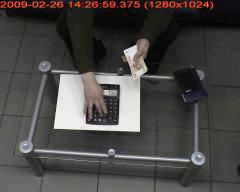 Пример контроля кассовых операций (Расстояние до объекта 2.5 метра)