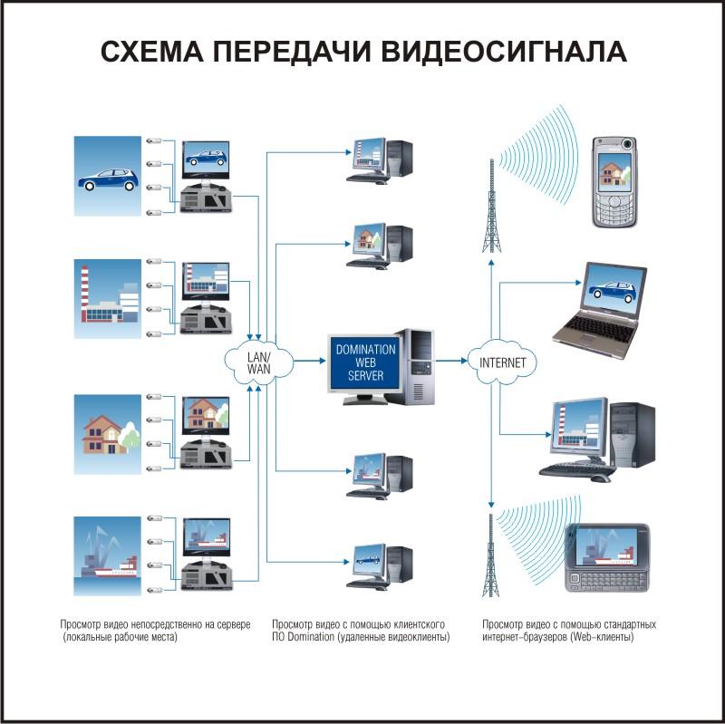 Схема работы Domination Web