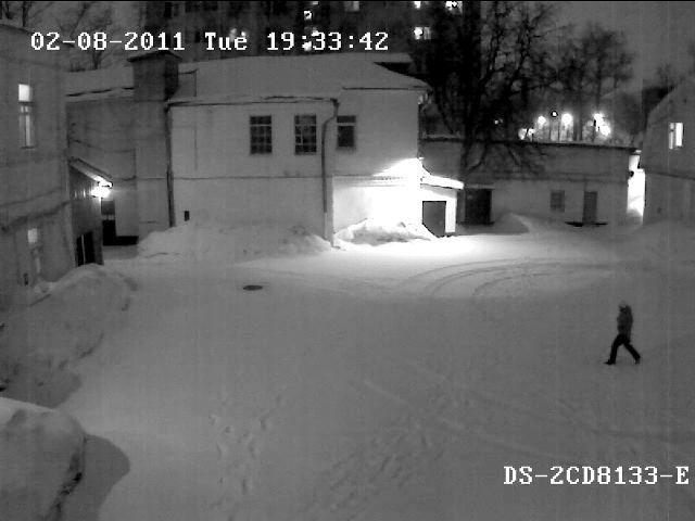 г. Москва, Офис DSSL в России, технический отдел, тест камеры DS-2CD8133-E